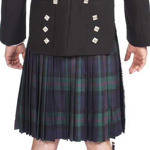 Men's 8 Yard Kilt Nevis 100% Wool Stain Resistant 16oz Heavyweight Tartan, Traditionally Hand Stitched