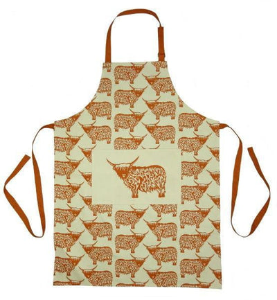 Highland Cow Design Apron