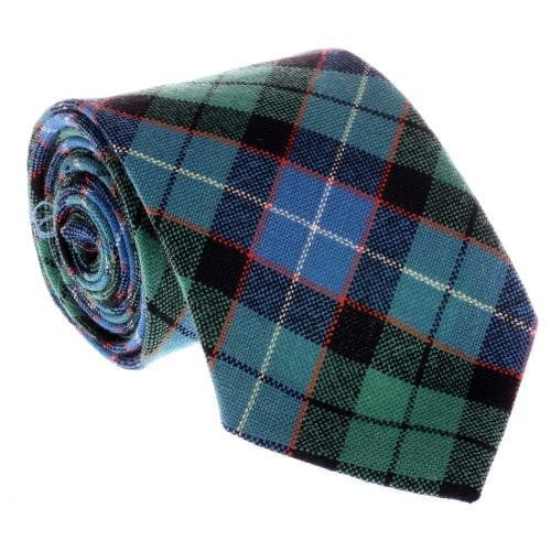 100% Wool Tartan Neck Tie - Hunter Ancient