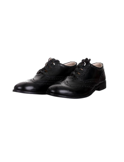 Exclusive Scotland Kilt Company Black Ghillie Brogues
