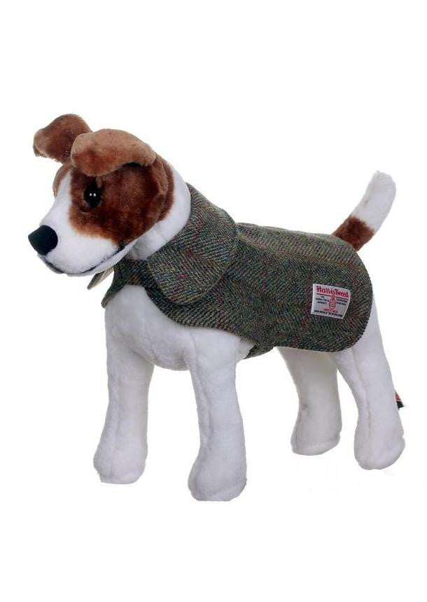 Harris Tweed Dog Coat - Green/Brown Check