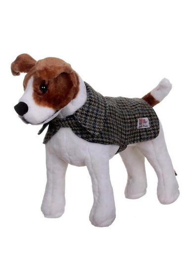 Harris Tweed Dog Coat - Green/Blue/Brown Check