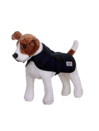 Harris Tweed Dog Coat - Black Watch