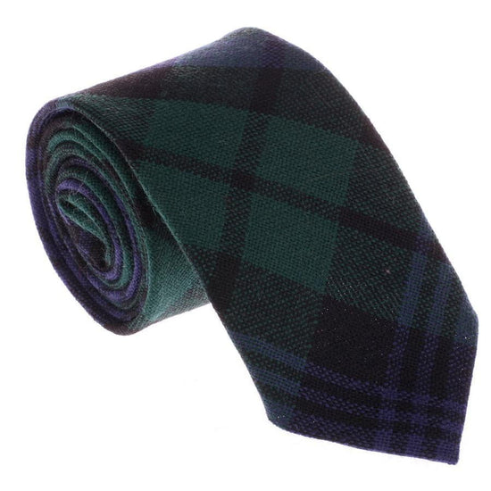 100% Wool Tartan Neck Tie - Black Watch Modern