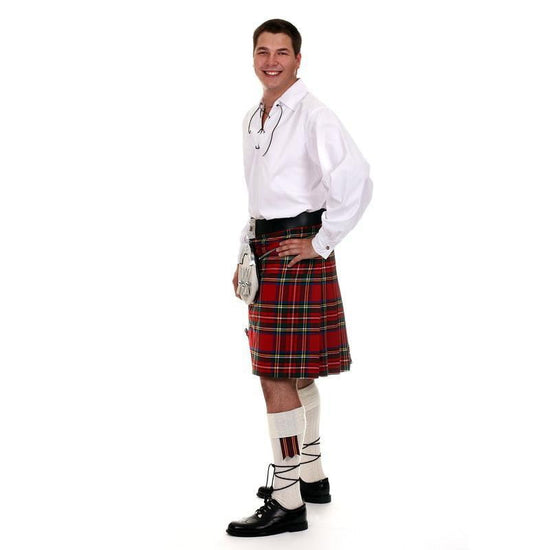 Full Casual Kilt Outfit, 11 Piece Package