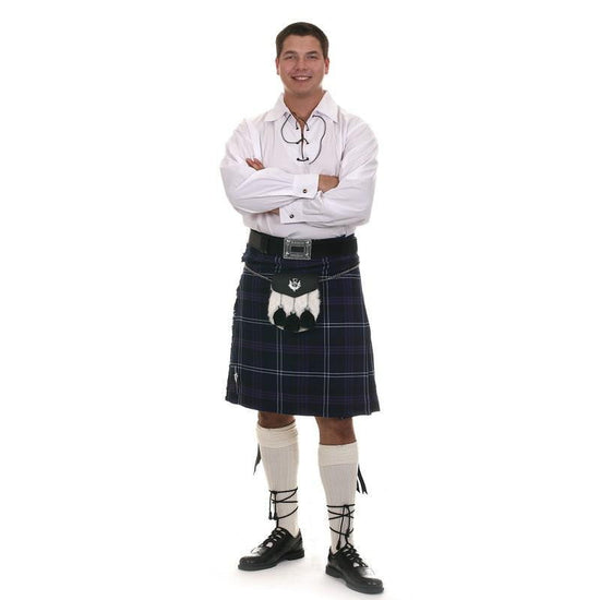 Casual Kilt Outfit, 10 Piece Package with Day Sporran