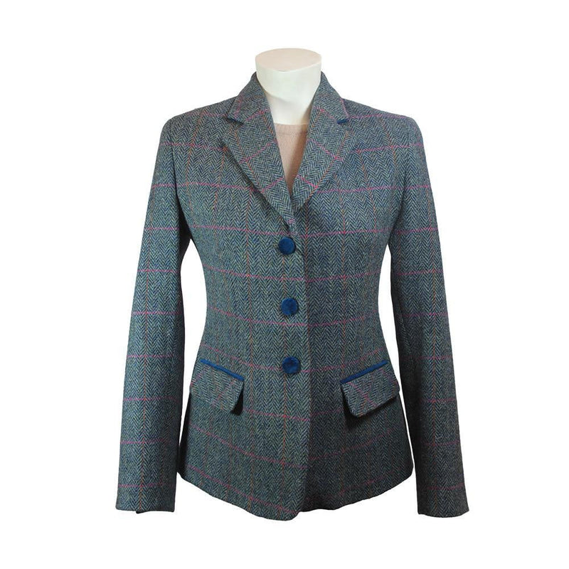 Ladies Harris Tweed Jacket - Melanie - Blue/Green