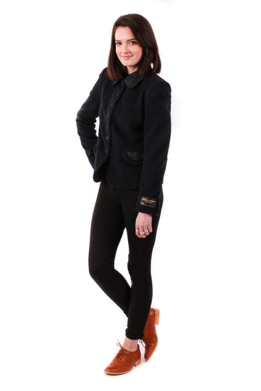 Ladies Fashion Jacket - Navy with Black Watch detail