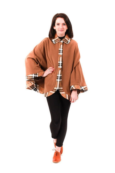 Ladies Kerry Cape - Camel with Thomson Camel trim