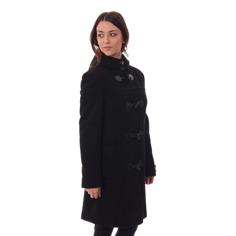 Ladies Duffle Coat in Black