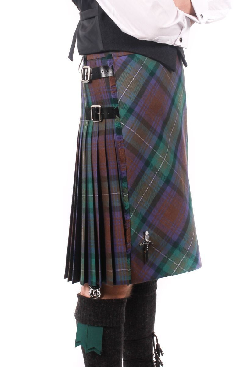 Men's Heavyweight Kilt - 100% Wool, 16oz, 8 Yard  - Bias Front