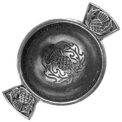 1.75'' Quaich - Thistle Design