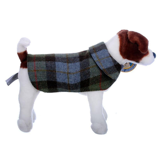 Harris Tweed Dog Coat - Green/Blue Macleod Check