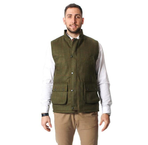 Mens Tweed Bodywarmer – Dark Tweed