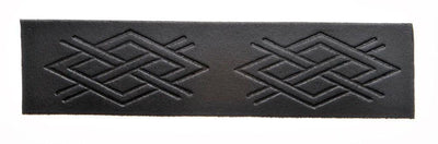 Embossed Criss Cross Velcro Kilt Belt