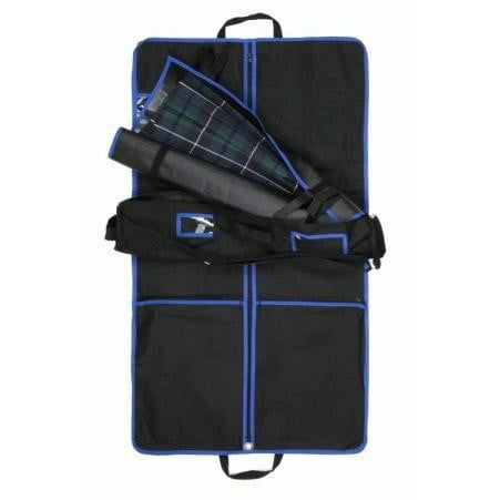 Complete Kilt Outfit Carrier including Kilt Roll - Blue Trim