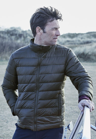 Kyle Navy Lightweight Quilted Casual Jacket by Brook Taverner