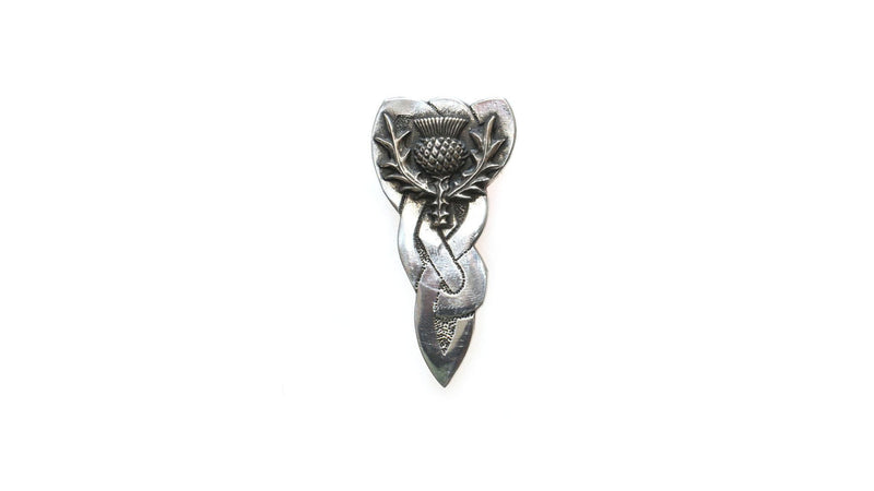 Large Thistle Design Kilt Pin