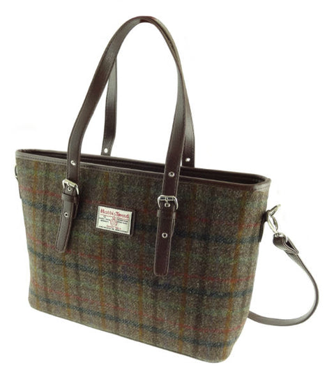 Harris Tweed Large Spey Tote Bag with Shoulder Straps