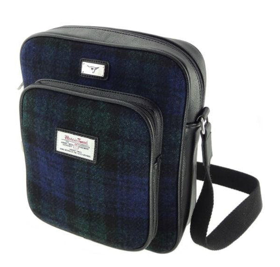 Harris Tweed Tay Bag -  Black Watch