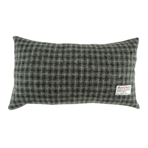 Harris Tweed  Rectangle Cushion - Grey Check