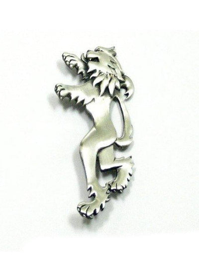 Lion Rampant Kilt Pin - Chrome/Antique Finish