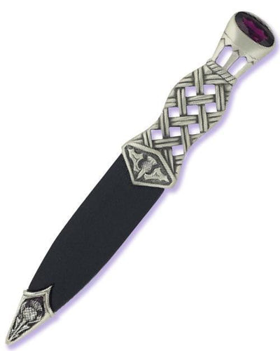 Matt Pewter Lochy Sgian Dubh with Stone Hilt