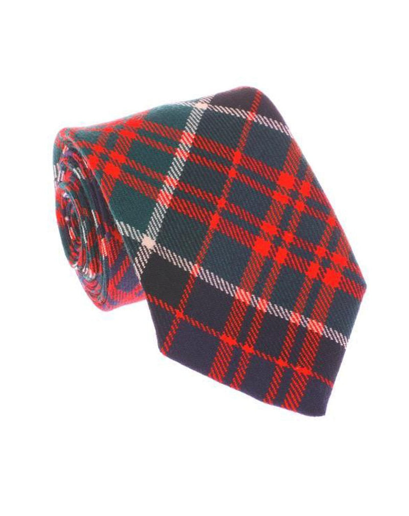 100% Wool Tartan Neck Tie -  MacDonald of Clanranald Modern