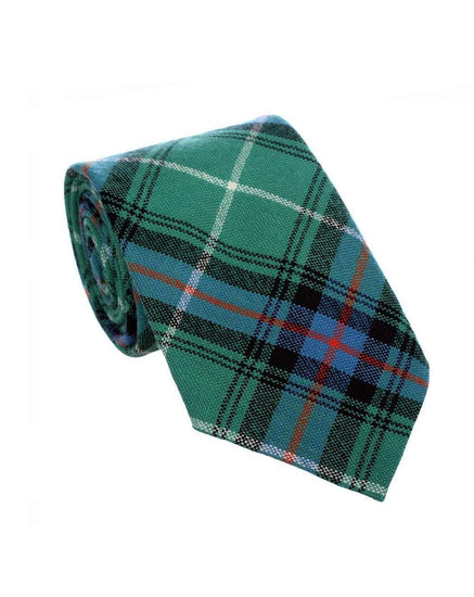 100% Wool Tartan Neck Tie - MacDonald of the Isles Green Ancient