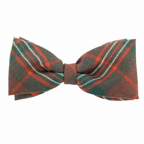 100% Wool Tartan Bow Tie - Scott Brown Modern
