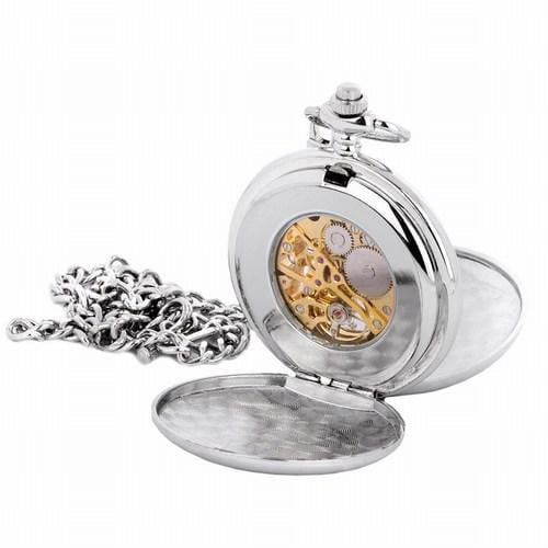 Quartz Full Hunter Pocket Watch - Celtic Design