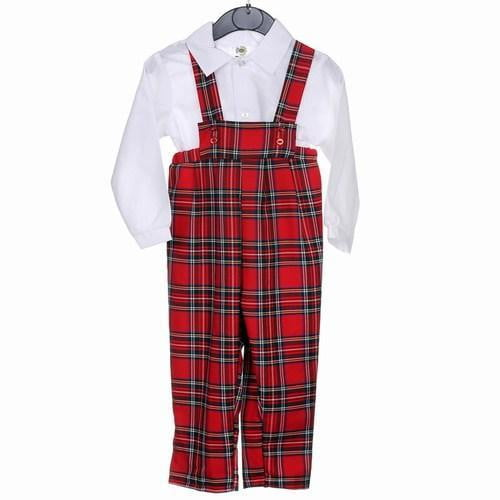 Boys Tartan Dungarees and Shirt, Royal Stewart