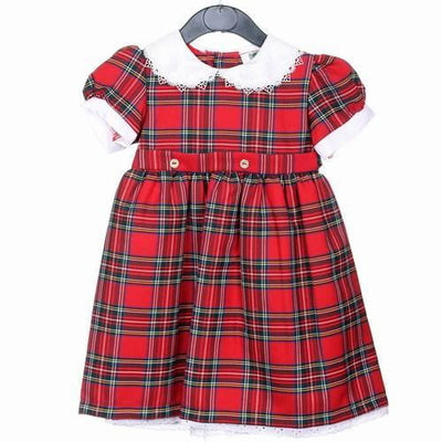 Girls Tartan Dress, Royal Stewart