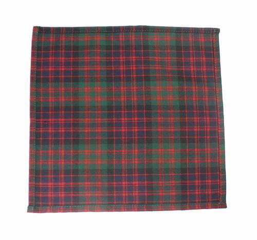 100% Wool Pocket Handkerchief (28cm x 28cm) – MacDonald Clan Modern