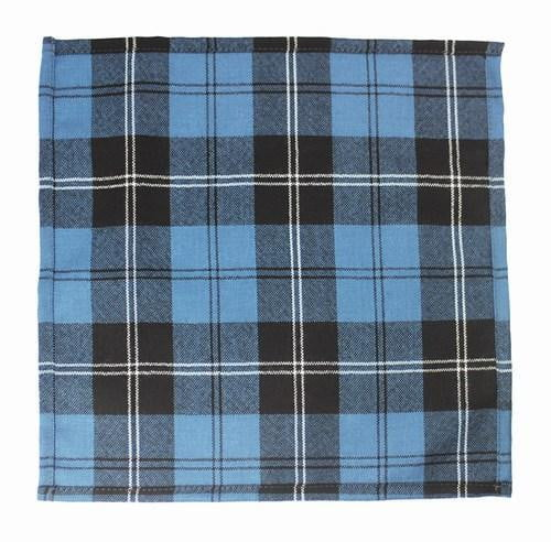 100% Wool Pocket Handkerchief (28cm x 28cm) – Ramsay Blue Ancient