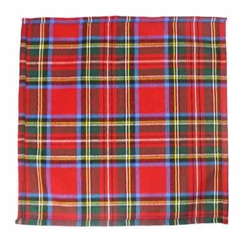 100% Wool Pocket Handkerchief (28cm x 28cm) – Royal Stewart