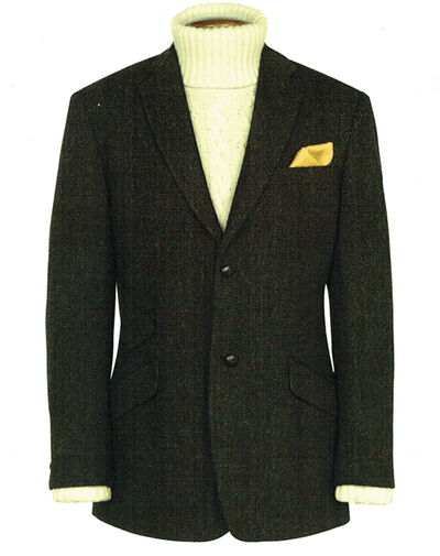 Mens Exclusive Genuine Scottish Harris Tweed Wool Jacket - Murdo