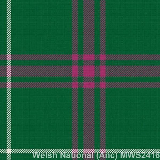 Men's 5 Yard Welsh National Tartan Kilt 13oz 100% Wool Hand Made