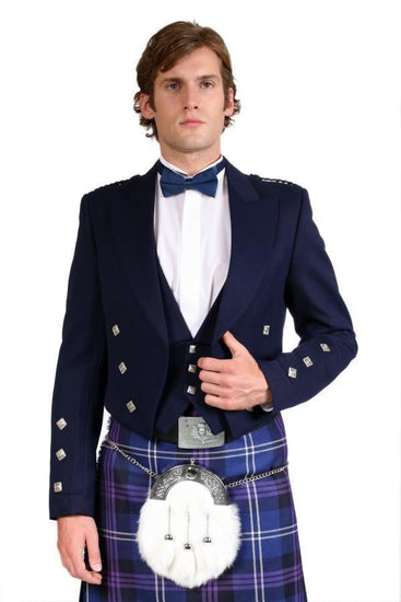 Navy Prince Charlie and 3 Button Vest - Made to Order