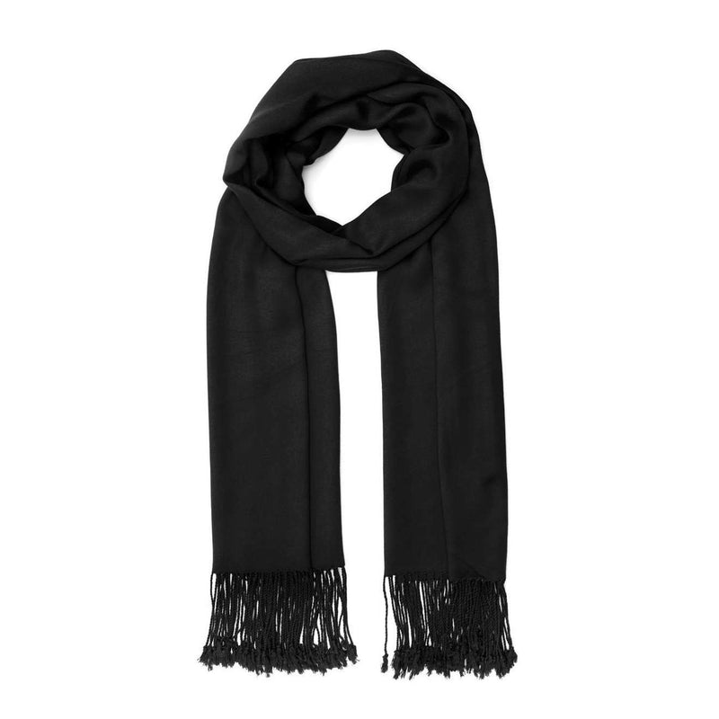 Ladies Pashmina Style Scarf in Black