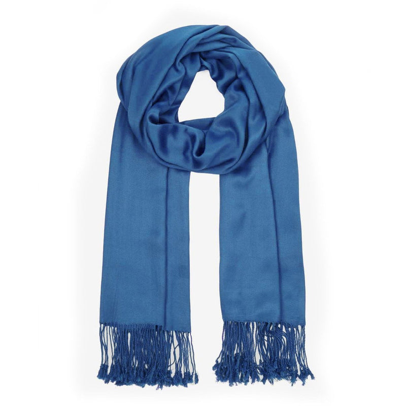 Ladies Pashmina Style Scarf in Blue