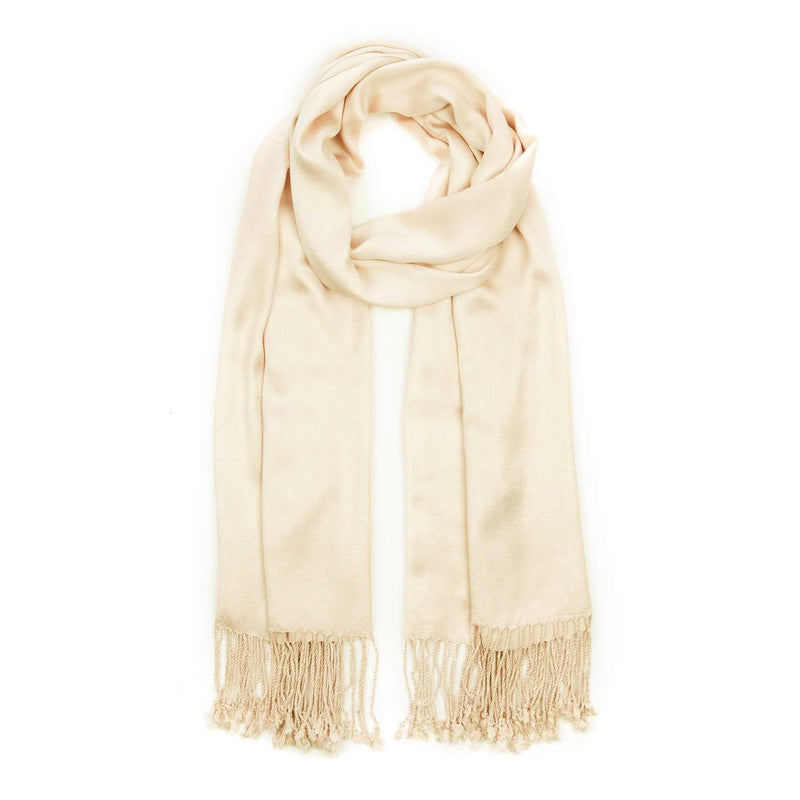 Ladies Pashmina Style Scarf in Cream