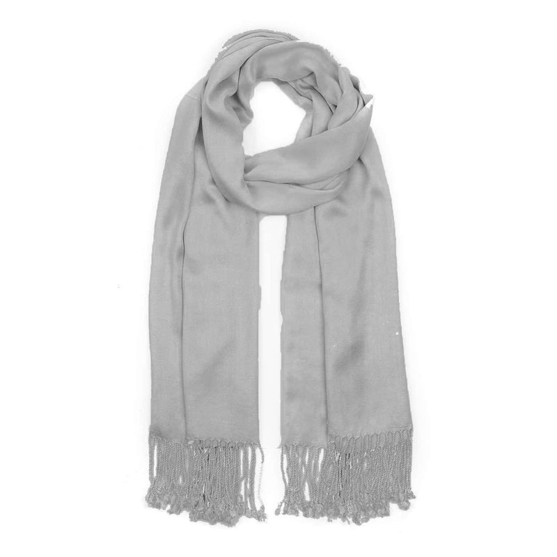Ladies Pashmina Style Scarf in Slate