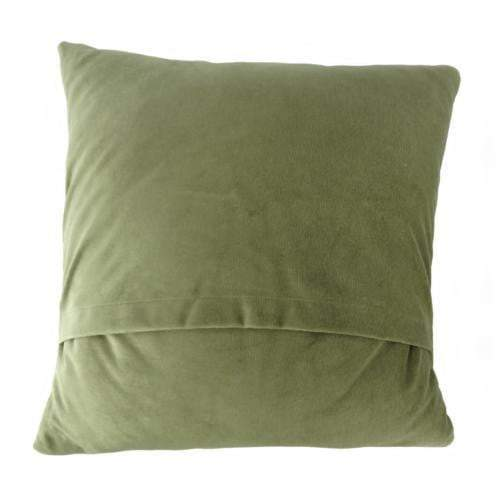 Harris Tweed  Square Cushion - Patchwork/Green Back