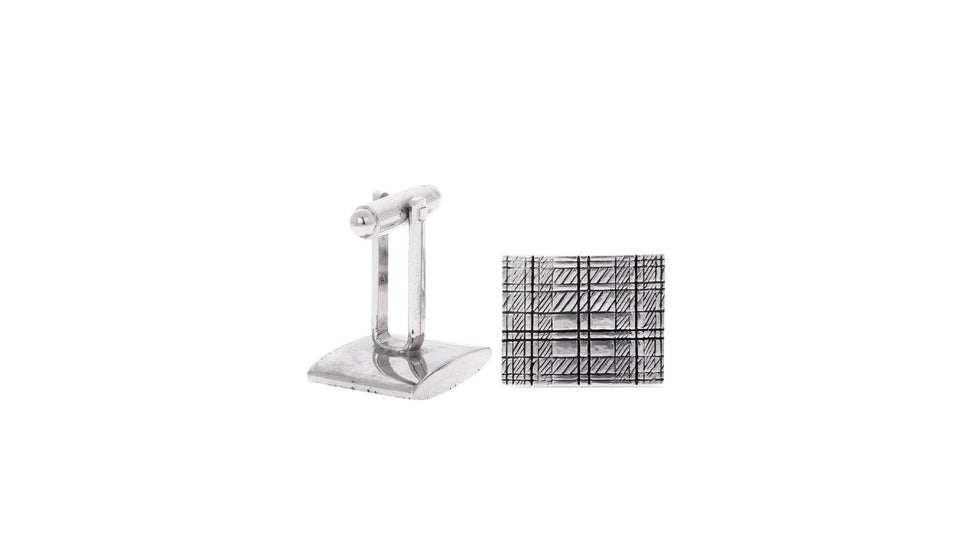 Sketch Design Pewter Cufflinks