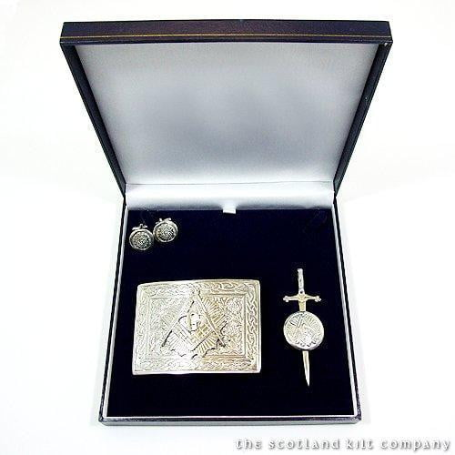 Pewter Masonic 3 Piece Accessory Set