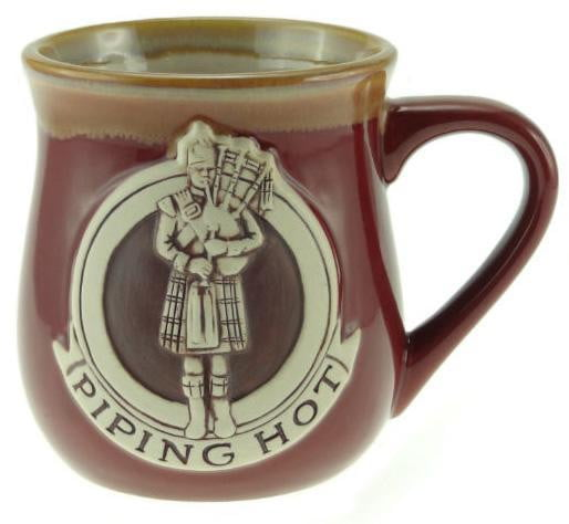Stoneware Mug with Piper - Red