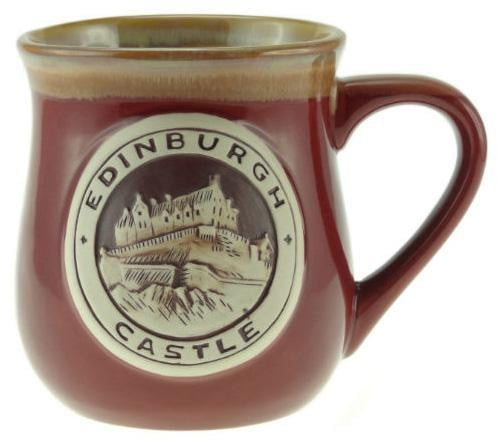 Stoneware Mug with Edinburgh - Red