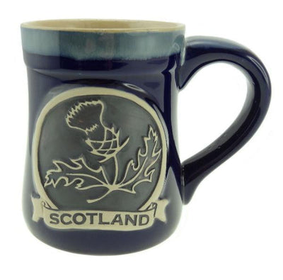 Stoneware Mug with Thistle - 3 Colours