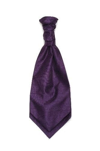 Children's Polyester Shantung Ruche Tie - Purple